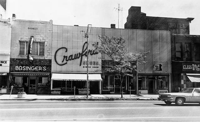 Crawford Shoes was at 138 N. Main St. in Lima and was a downtown Lima icon. This photo is from 1975.