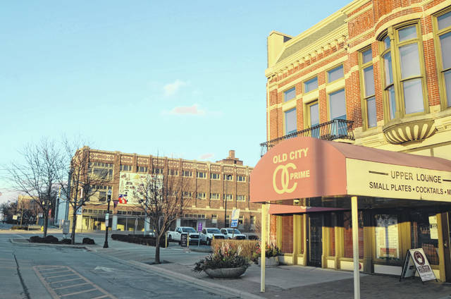 The intersection and buildings directly north of Old City Prime are slated for major updates due to investments by Good Food Restaurant's John Heaphy if a proposed parking lot swap with the City of Lima is approved by Lima City Council.