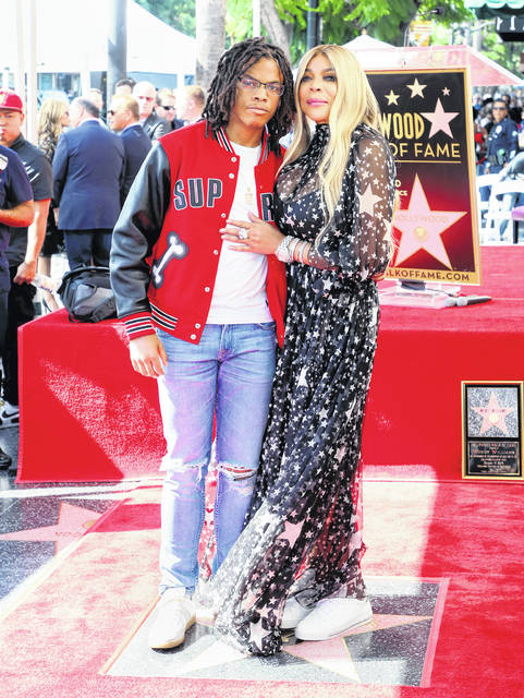 Wendy Williams and son Kevin Hunter Jr. attend her being honored with a Star on the Hollywood Walk of Fame on October 17, 2019, in Hollywood, California.