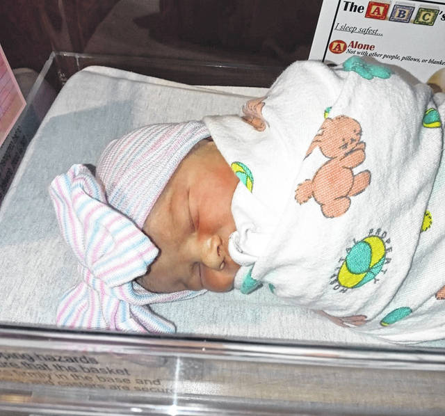 Eljen Jane Alger was born at 10:27 a.m. Friday at Blanchard Valley Health System, becoming one of the first babies born in 2021 in the region.