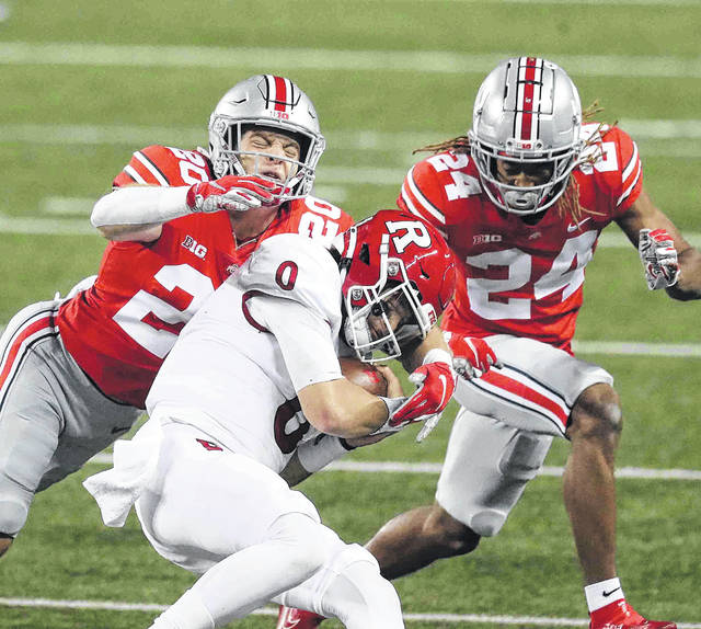 Ohio State cornerback Shaun Wade (24), the lone returning starter from last year, and the rest of the Buckeye secondary will have their hands' full against the talented Alabama receivers.