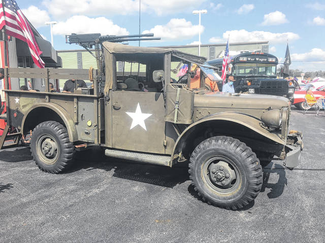 """Robert """"Bobby"""" Prichard, of Lima, restored this 1954 Dodge M-37 truck. Before his death, he restored Jeeps from the Army Navy and Marines."""