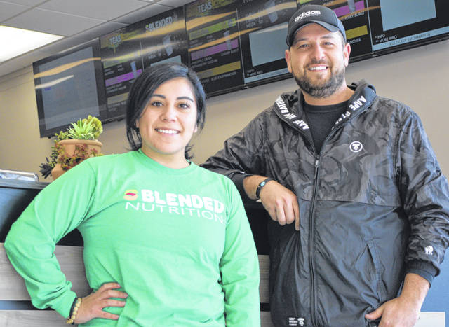 Natalia Ortiz and Nate Geise plan to open Sblended Nutrition on Feb. The store is located at 2062 N. Cable Road in the former Blockbuster store.