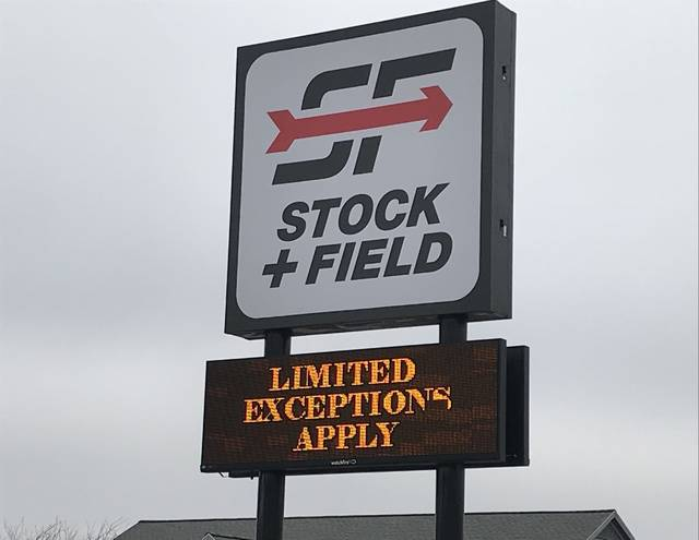 Stock + Field, formerly known as Big R, will close its store in Clock Tower Plaza in 2021 after the Minnesota-based company filed for Chapter 11 bankruptcy on Sunday.