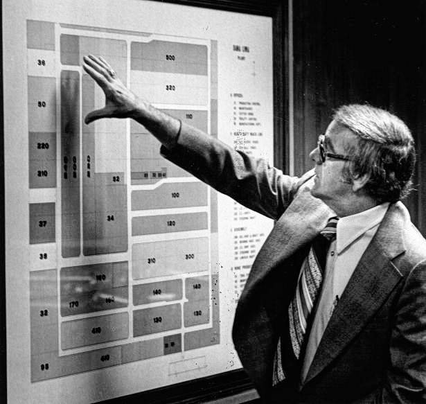 Robert Fitzmorris explains the plant's layout in 1978.