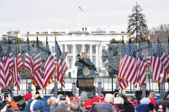 "President Donald Trump addressed a crowd of supporters Wednesday morning, telling them, ""We will never give up. We will never concede. It will never happen. Our country has had enough. We will not take it anymore."""