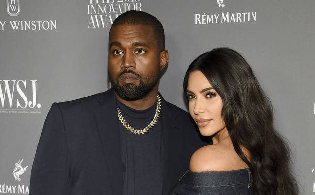 Kanye West, left, and Kim Kardashian attend the WSJ Magazine Innovator Awards on Nov. 6, 2019, in New York. Kim Kardashian West filed for divorce Friday from Kanye West after 6 1/2 years of marriage.