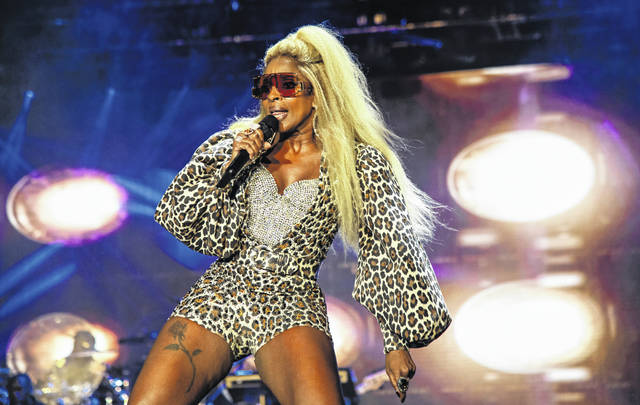 FILE - Mary J. Blige performs at the Essence Festival on July 6, 2019, in New Orleans. Blige made this year's list of nominees to the Rock and Roll Hall of Fame. The class of 2021 will be announced in May.