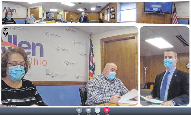 Most public bodies have been forced to hold their meeting virtually during the COVID-19 pandemic. The Allen County board of commissioners is shown above during one of those meetings.
