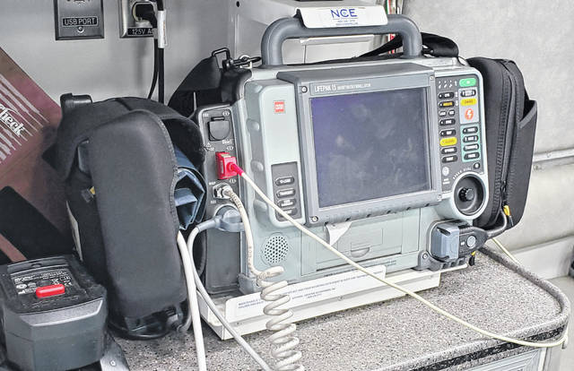 The defibrillator on board a Shawnee Township Fire Department ambulance will be upgraded from a version 2 to a version 4 thanks to a donation from Mercy Health.