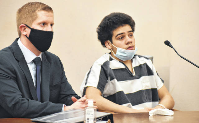 Juan Freeman II, 18, of Lima, appeared in court Friday with a new attorney, Marcus Moll. Freeman is scheduled to stand trial beginning April 26 for armed robberies more than a year ago at Little Caesar's pizza and Hermie's Party Shop in Lima.