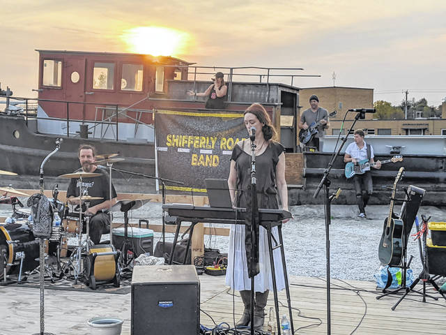 The Shifferly Road Band had to spread out and sometimes perform with fewer members depending on a venue's size. The local musicians went from playing mostly festivals to performing at outdoor patios at bars after the pandemic hit.