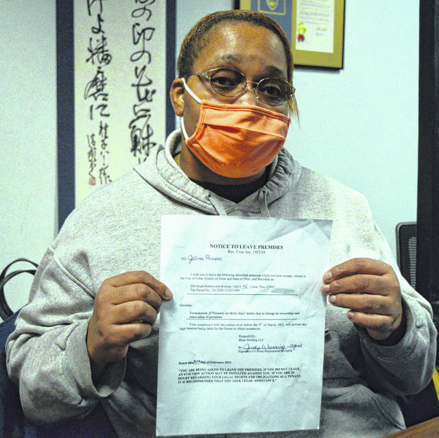 Jalina Rucker and two others received a second eviction notice on Wednesday to vacate their apartment by March 1.