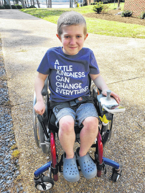Cole Terrill, 11, of Smithfield, provided inspiration for John Waite, of Newport News, to raise money for Muscular Dystrophy.