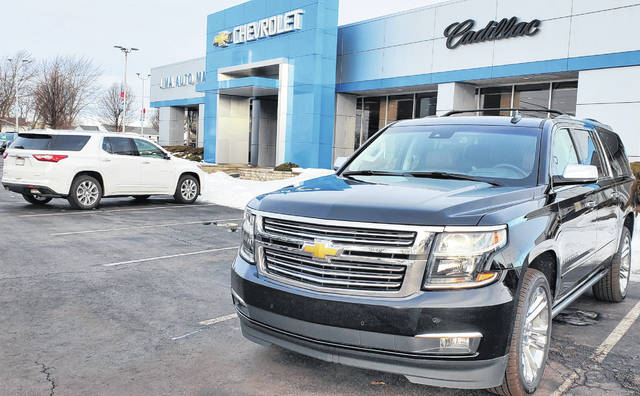 Auto dealers, such as Lima Auto Mall on Cable Road in Lima, realized the importance of advertising their best deals online after the coronavirus pandemic hit.