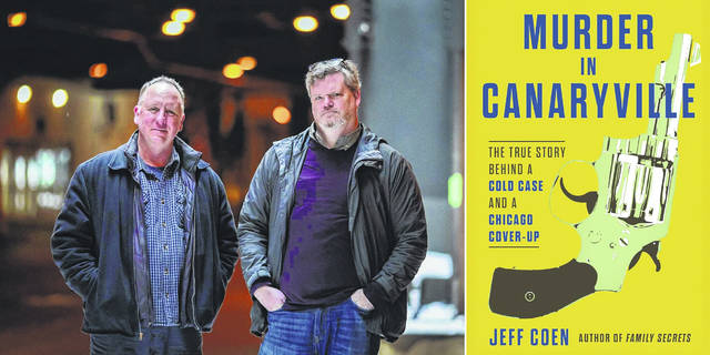 "Chicago detective Jim Sherlock and ""Murder in Canaryville"" author Jeff Coen."