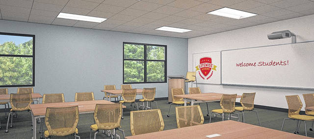 Two classrooms are being constructed in what has been named the Sunnydale House, home of the future LifeWise Academy in Elida. Image provided.
