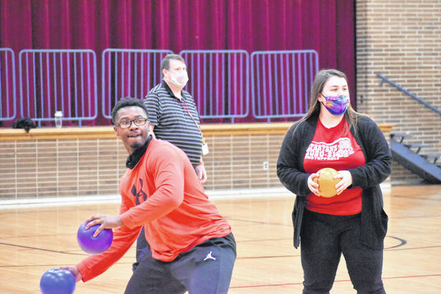 Teachers at North Middle School put their dodgeball skills on display Friday while raising money for the American Heart Society.