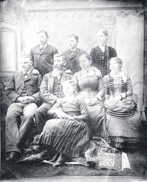 A photograph of the George Liberty Davison family from the mid-1880s includes, back row from left, Lawrence, David and Ida; middle row from left, Louis, George, his wife Margaret and Effie; and front row, Anna.