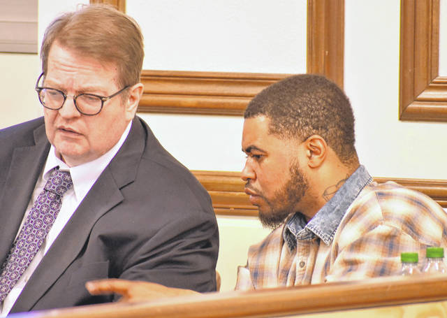 Testimony continued Tuesday in Allen County Common Pleas Court in the trial of Jaishaun Ball, 33, right, charged with possession of cocaine, three counts of trafficking in cocaine and having weapons under disability. Included in those counts is a specification labeling Ball as a major drug offender.