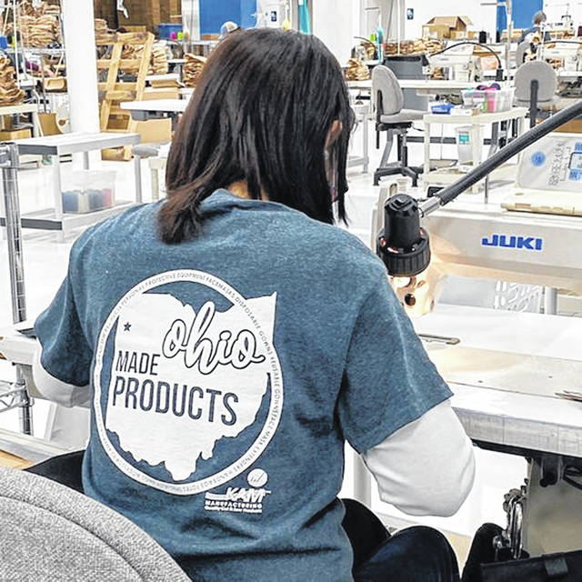 KAM Manufacturing in Van Wert created a new line of reusable face masks and isolation gowns in 2020 to help shore of the supply of personal-protective equipment. Owner Ollie Adams believes PPE shortage highlighted the capabilities and need for domestic-made products.