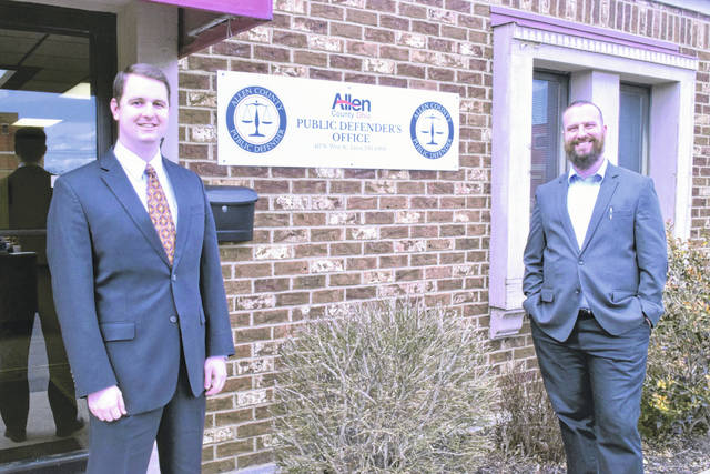 Kenneth Sturgill, left, was named to head up Allen County's Public Defender Office in December. He hired Attorney Carroll Creighton, right, as his chief assistant.
