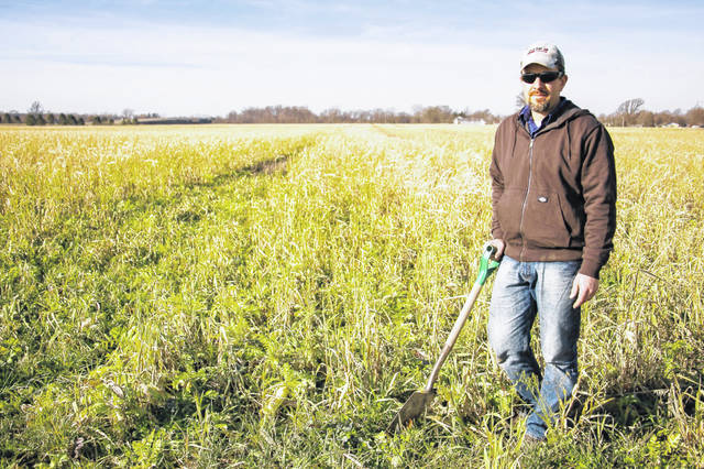 Matt Burkholder is a farmer's advocate through the Nature Conservancy. He can explain the ins and outs of planting cover crops to Allen County farmers.