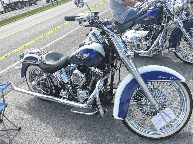 Todd Miner, of Lima, owns this 2006 Harley Davidson Deluxe.