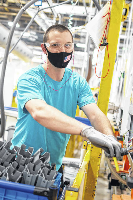 Andrew Fontaine is one of nearly 600 employees at the Ottawa Whirlpool Corp. plant, the largest employer in Putnam County.