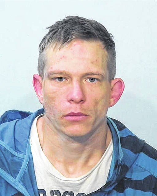 This mug shot of Benjamin Wiedenhoeft was obtained from TheMostWanted.Net website. Wiedenhoeft is resting in the Auglaize County jail for his role in a high-speed chase that ended in Wapakoneta on Tuesday. He is wanted in Indiana on assorted charges.