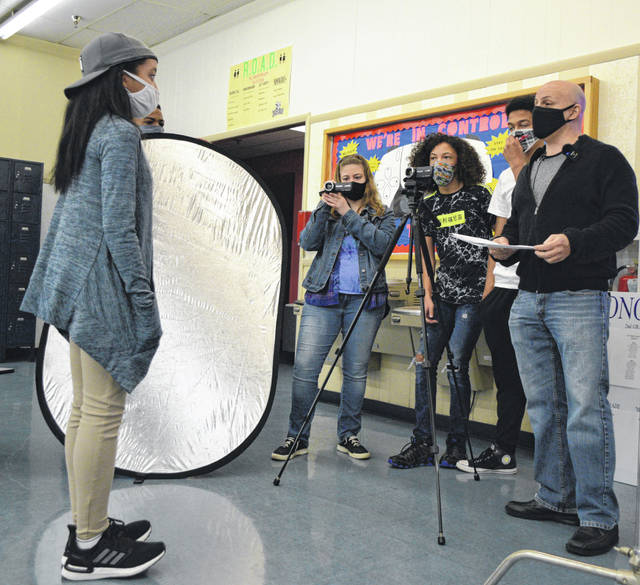 Students involved in the Youth For Change Summit learned about filmmaking Saturday at Heir Force Community School.