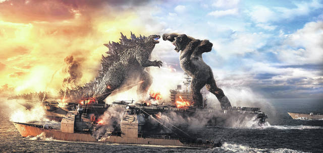 """This image released by Warner Bros. Entertainment shows a scene from """"Godzilla vs. Kong."""""""