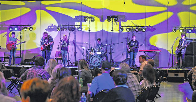 Minor Blues performs during Saturday's Bluesfest 2021 at the Veterans Memorial Civic and Convention Center.