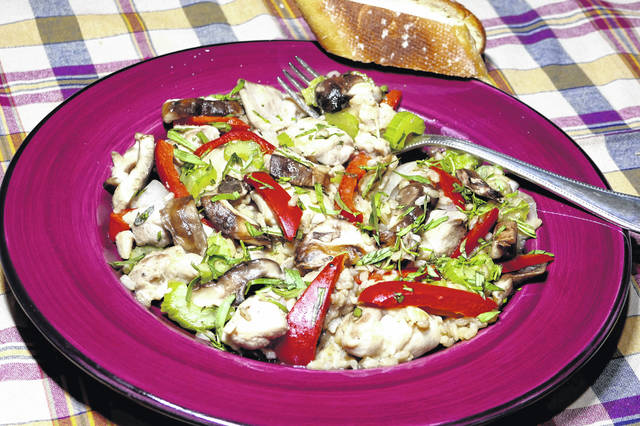A quick and light version of a classic French stew, Chicken Fricassee. (Linda Gassenheimer/TNS)