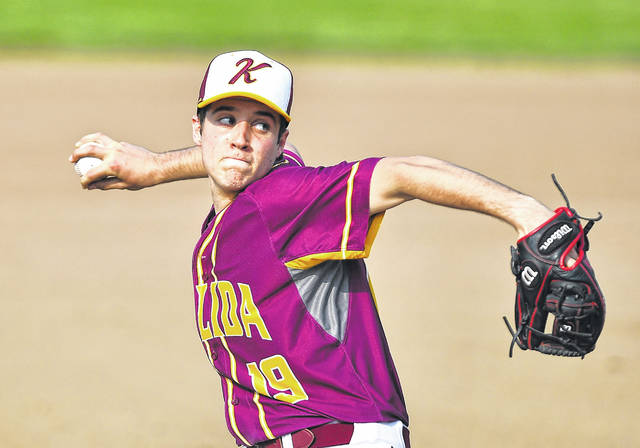 Kalida's Ryan Lucke pitches during Tuesday's game against Ottoville at Kalida.