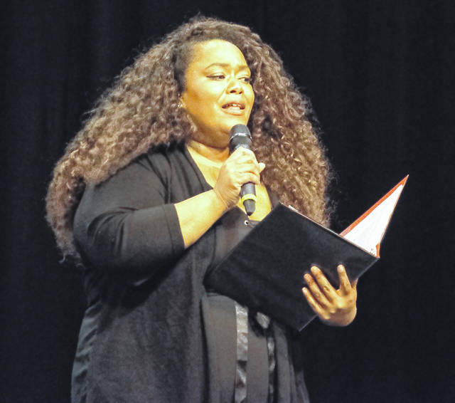 "Lima Central Catholic graduate Karrie Lester performs in ""Lift Every Voice and Sing,"" a musical event she wrote that follows African-American music as it developed through different eras. It will be performed at 7:30 p.m. Saturday at <a href=""https://stcharleslima.org/"" target=""_blank"" title=""https://stcharleslima.org/"">St. Charles Catholic </a><a href=""https://stcharleslima.org/"" target=""_blank"" title=""https://stcharleslima.org/"">Church</a>, 2200 W. Elm St., Lima."
