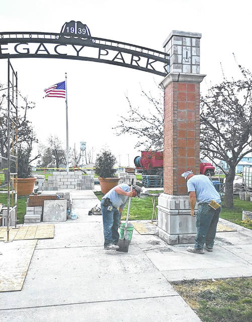 The Legacy Park gate is now under construction in Cridersville.