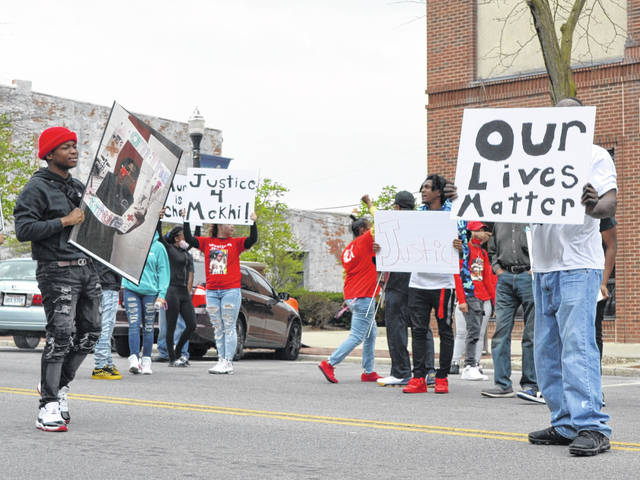 On Saturday, a group led by the Lima NAACP protested in front of the Court of Appeals building on North Main Street.