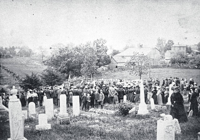 Today, an Ohio historical marker and a small cemetery on the high west bank of the river are the only reminders that Hartford ever existed. It was located in Amanda Township between Defiance Trail and the Auglaize River.