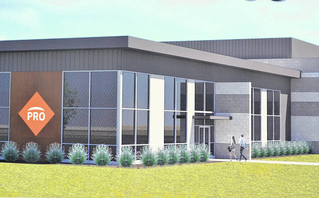Perry proTECH's new building on Commerce Parkway, shown in this artist's rendering, will consolidate and modernize facilities.