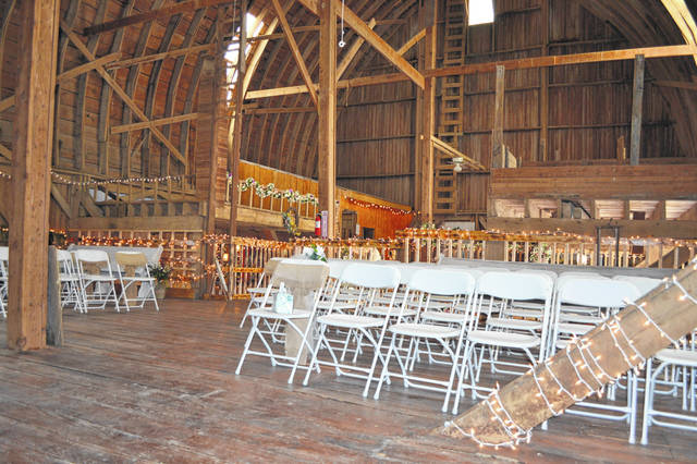 The loft at the Quellhorst Farm Venue can handle up to 140 guests. The owners held an open house on Sunday.