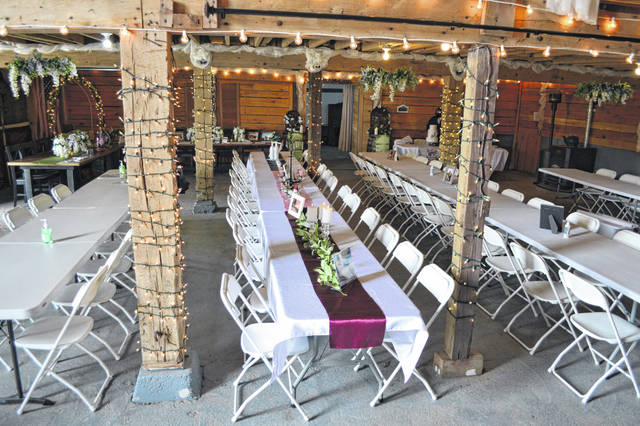 The ground level of the Quellhorst Farm Venue can seat 150 people.