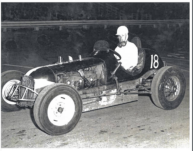 George Place at the Little 500 in Anderson, Indiana, circa 1953.