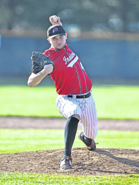 Shawnee's Caden Vermillion pitches during Friday's game against St. Marys at Shawnee.