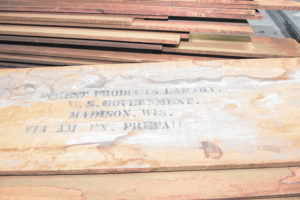 This wood sat in storage for 100 years
