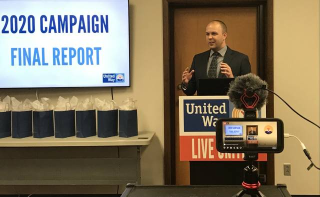 Derek Stemen, president and CEO of the United Way of Greater Lima, said the non-profit agency raised $1.4 million in 2020 in spite of the coronavirus pandemic. The agency reported its 2020 campaign totals on Tuesday.