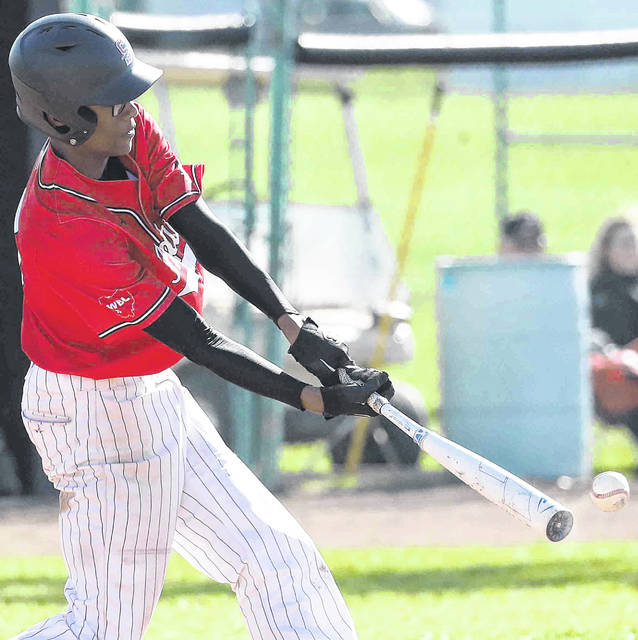 Shawnee's Anthony Best bats during Friday's game against Defiance at Shawnee.