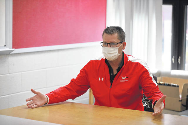 """Mark Koch, a guidance counselor at Wapakoneta High School, talks about the challenges students face trying to choose a college in the midst of a pandemic. """"They surely get a better feel on a tour than from a virtual tour or just talking to someone by phone who's a counselor at a university,"""" Koch said."""