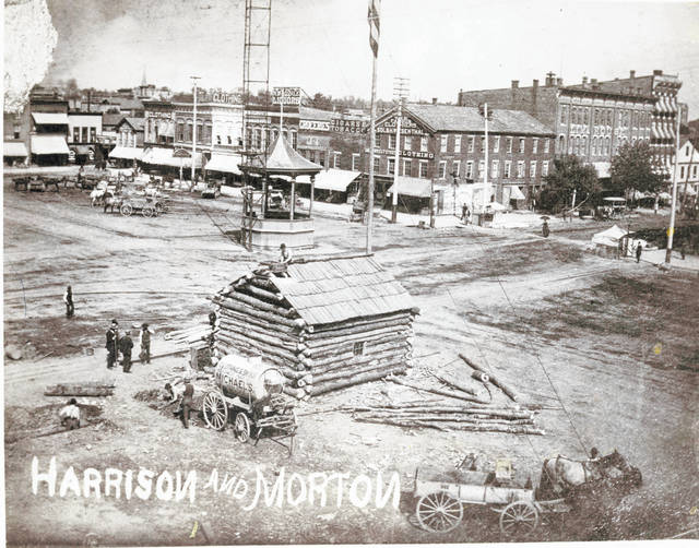 A bandstand in the background can be seen in this 1888 photo from Harrison and Morton on High Street.