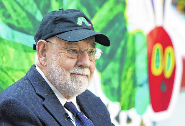 """Author Eric Carle reads his classic children's book """"The Very Hungry Caterpillar"""" on the NBC """"Today"""" television program Oct. 8, 2009, in New York, as part of Jumpstart's 4th annual National Read for the Record Day."""